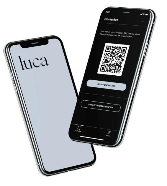 Wir verwenden die Luca-App